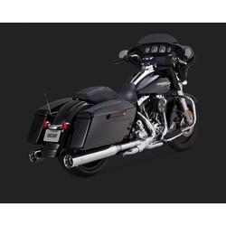 Oversized 450 Titan Chrome Slip-ons for Touring 95-16