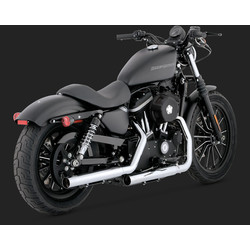 Straight-shots Dempers Chrome voor Sportster 04-13