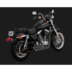 Short-shots Staggered Black for HD Sportster 99-03