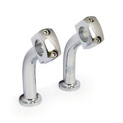 "5 inch domed 2"" pullback risers - Chrome"