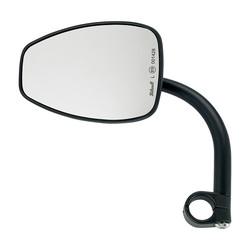 "1"" Clamp-on Utility Mirror Teardrop CE - Black"