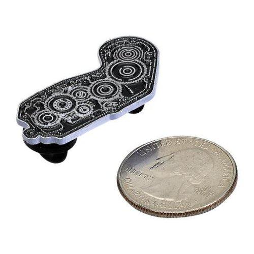 Biltwell Emaille Pin 4 Cam - Zwart / Wit
