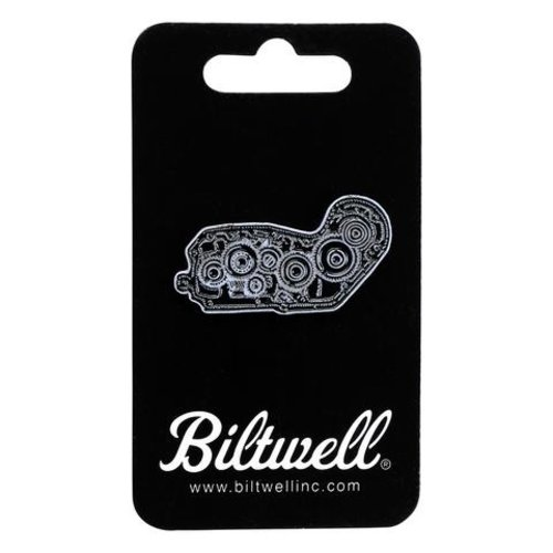 Biltwell Enamel Pin 4 Cam - Black / White