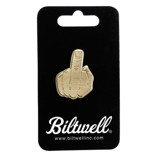 Biltwell Enamel Pin Finger - Brass