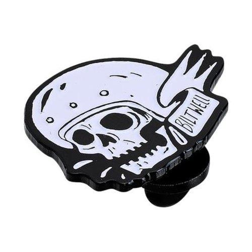 Biltwell Enamel Pin Skull - Wht/Blk