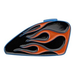 Emaille Pin Sportster Tank - Flames