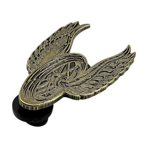 Biltwell Emaille Pin Winged Wheel  - messing