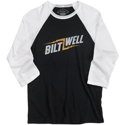 Bolts Raglan shirt - Zwart / Wit