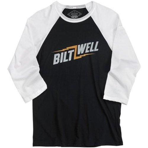 Biltwell Bolts Raglan shirt - Zwart / Wit