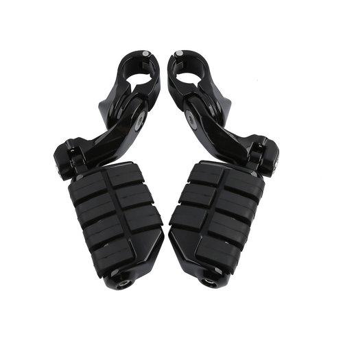 Snelweg voetsteunen 32 mm - 360 ° verstelbaar - glanzende achterkant