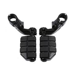 Highway Footrests 32mm - 360 ° Adjustable - Gloss Back