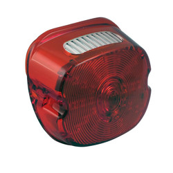 Late style laydown LED rear light lens for various 99-17 HD