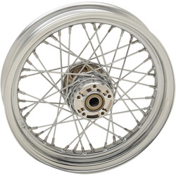 Fully Assembled Chrome Spoke Wheel (select size)