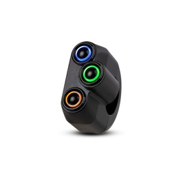 REBEL SWITCH 3 button LED – Black 22 mm