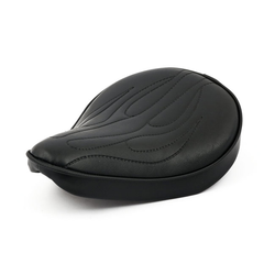 "14x12.5""  Fitzz Custom large Solo Seat black Flame"