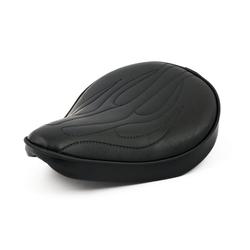 "14x12.5""  Fitzz Custom large Solo seat zwart Flame"