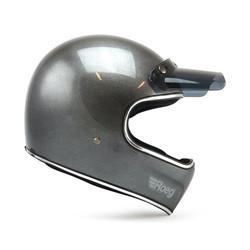 Peruna Motorradhelm Metall Schwarz