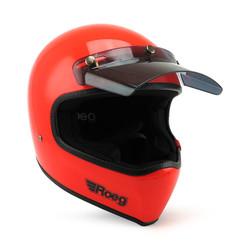 Peruna Casque moto oompa orange