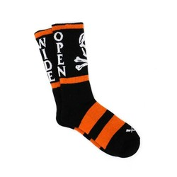 Socken Todesurteil Orange Schwarz