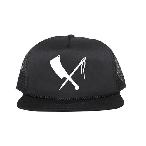 Rusty Butcher cap logo black
