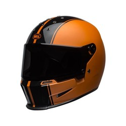 Eliminator Helm Rally Mat / Glanzend Zwart / Oranje