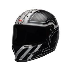 Eliminator Helm Outlaw Gloss Zwart / Wit