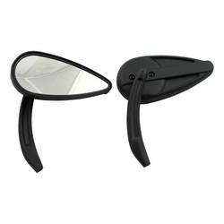 Retro Teardrop Mirror Set - Black
