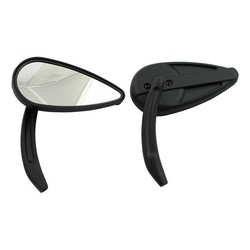 Retro Teardrop Spiegel Set - Zwart