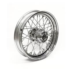 3.00 x 16 Achterwiel 40 Sp. chrome 12-17 Softail (ABS)