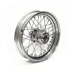 5.00 x 16 (RW) 40 Sp. chrome 09-19 FLT, FLHT, FLHR, FLHX (ABS)