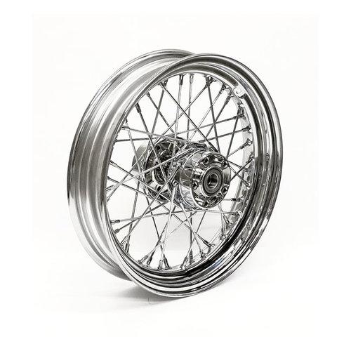 MCS 3.00 x 16 rear wheel 40 spokes chrome 97-99 FXST/FLST; 97-98 FXD/FXDWG; 99FXD/FXDWG; 97-99 XL