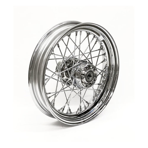MCS 4.50 x 17 Roue arriere 40 rayons chrome 12-17 FXD, FXDWG (ABS) (NU)