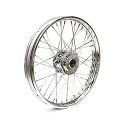 2.50 x 19 front wheel 40 spokes chrome 06-07 XL(NU)