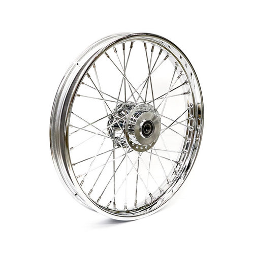 2.15 x 21 Voorwiel 40 Spaaks chrome 07-17 Softail (No ABS) (NU)