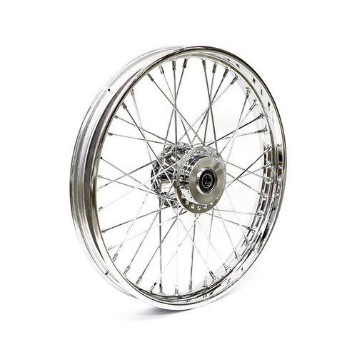 MCS 2.15 x 21 front wheel 40 spokes chrome 00-03 FXD/B/C/L; 00-05 XL(NU)