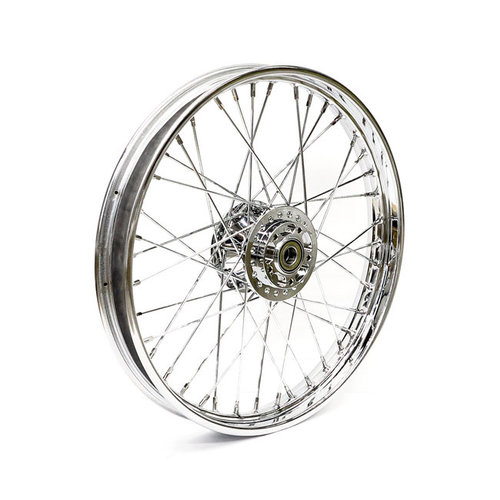 MCS 2.15 x 21 front wheel 40 spokes chrome 14-19 XL (ABS)