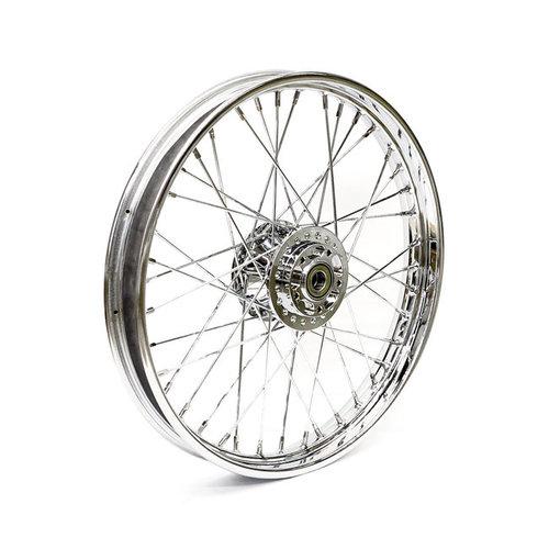 MCS 2.15 x 21 roue avant 40 rayons chrome 06-07 XL (NU)