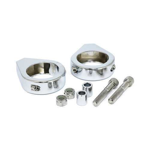 MCS 5/16 x 39MM Fork Mount Clamp Kit  - Chrome