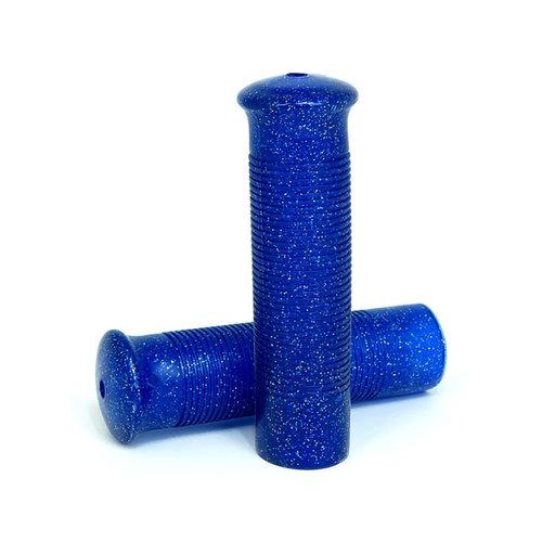 Poignées rétro bleu pailleté 1inch