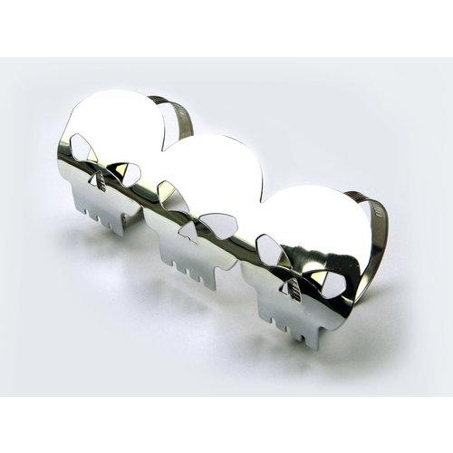 Willys Skull metalen uitlaatbeschermer 46-74mm