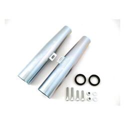 35.9 cm long 39mm Fork Cover set Zinc  04-15 XL