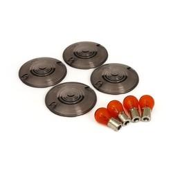 Smoked Flashing Lens Kit, flache Linse