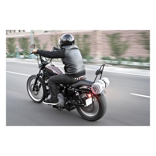 "Burly 13 ""Sissy Bar Schwarz für Harley Davidson 04 - 20 XL"