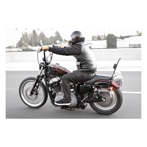 "Burly 13"" Sissy Bar Zwart Voor Harley Davidson 04 - 20 XL"