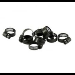 3/8 inch black hose clamp 10 pcs