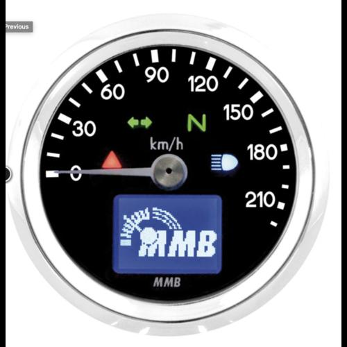 MMB 48mm elektronische snelheidsmeter 220kmh
