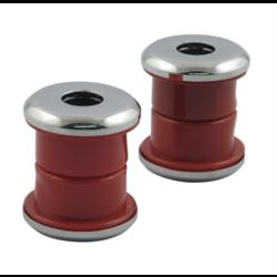 Steering damper kit, red polyurethane for Harley Davidson