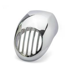 Prison Grid Headlight Fairing for HD - Chrome
