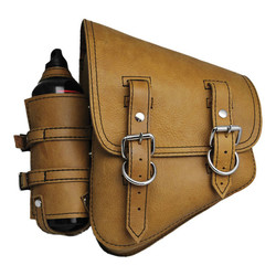 Tanned La Rosa Solo Saddle Bag For Harley Davidson Softtail and Rigid