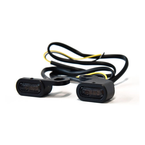 Dyna 96-17 Sportster 96-13 Mini clignotant LED pour robinet de guidon Softail 96-14 chrom/é